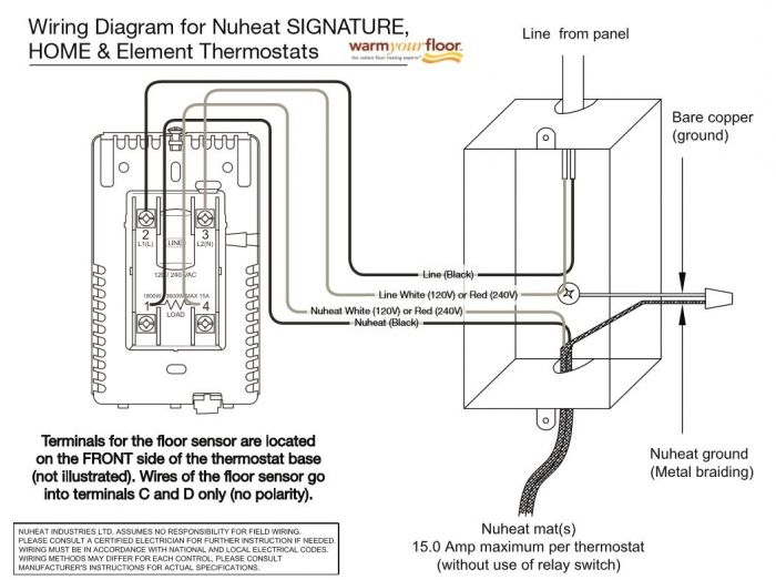Nuheat Element Non Programmable Thermostat Element